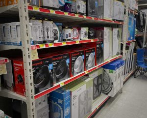 Large selection of fans in stock