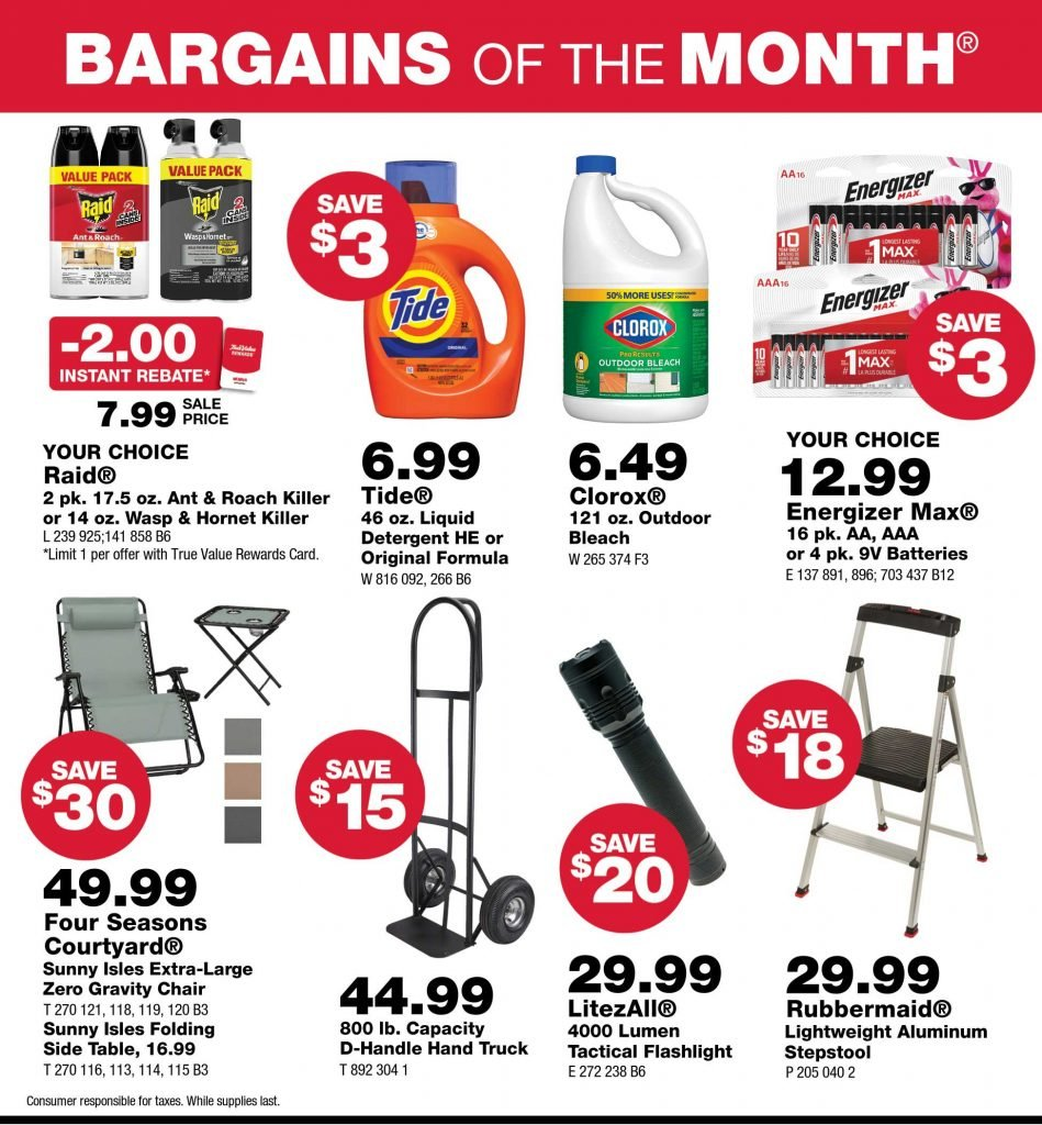 Junction True Value July Bargains of the Month